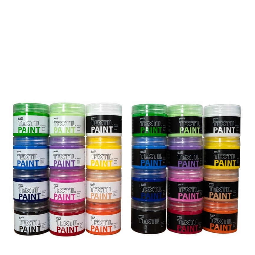Zestaw Farb Do Tkanin WYPAS CIEMNY - 24 kolory x 50ml