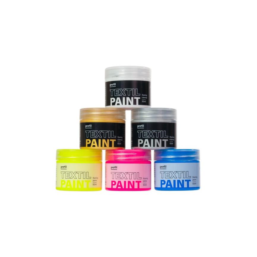 Zestaw Farb do Tkanin UNICORN BLING - 6x50ml