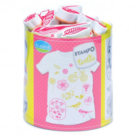 STEMPLE DO TKANIN - Flora / malowanie na tkaninie
