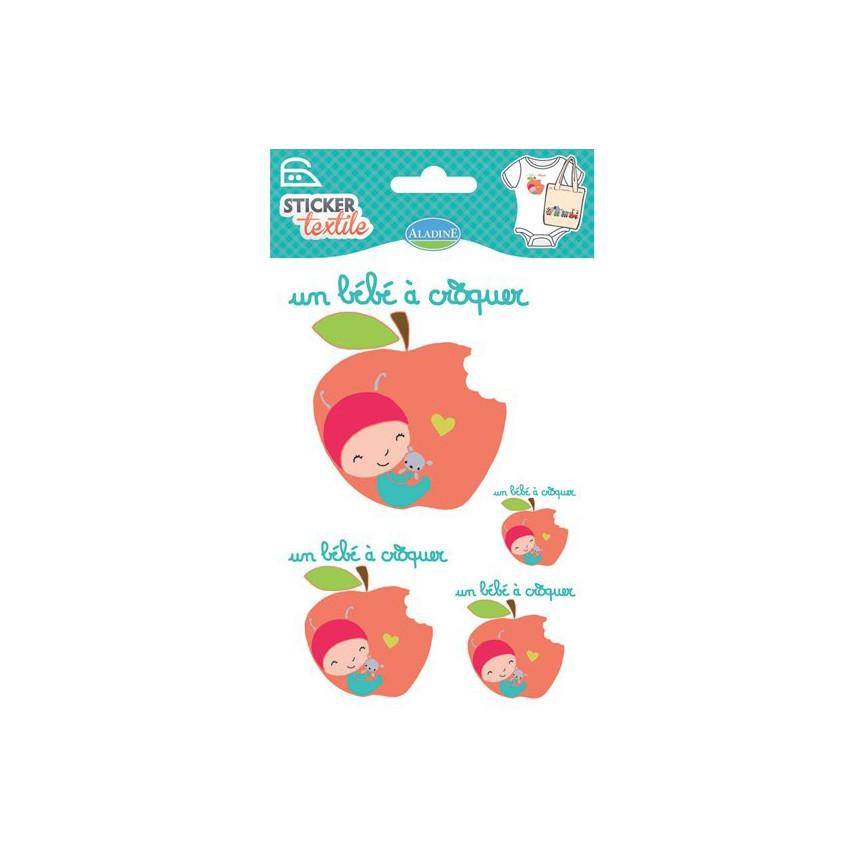 NAPRASOWANKI NA KOSZULKI / naklejki - jabłuszko