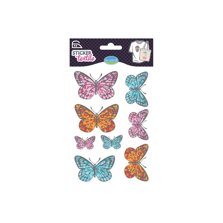 NAPRASOWANKI NA KOSZULKI / naklejki - motylki kolor
