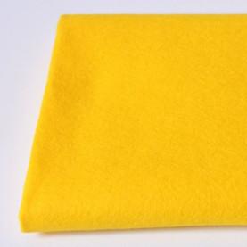 FILC WEŁNIANY DEKORACYJNY - 608 Żółty