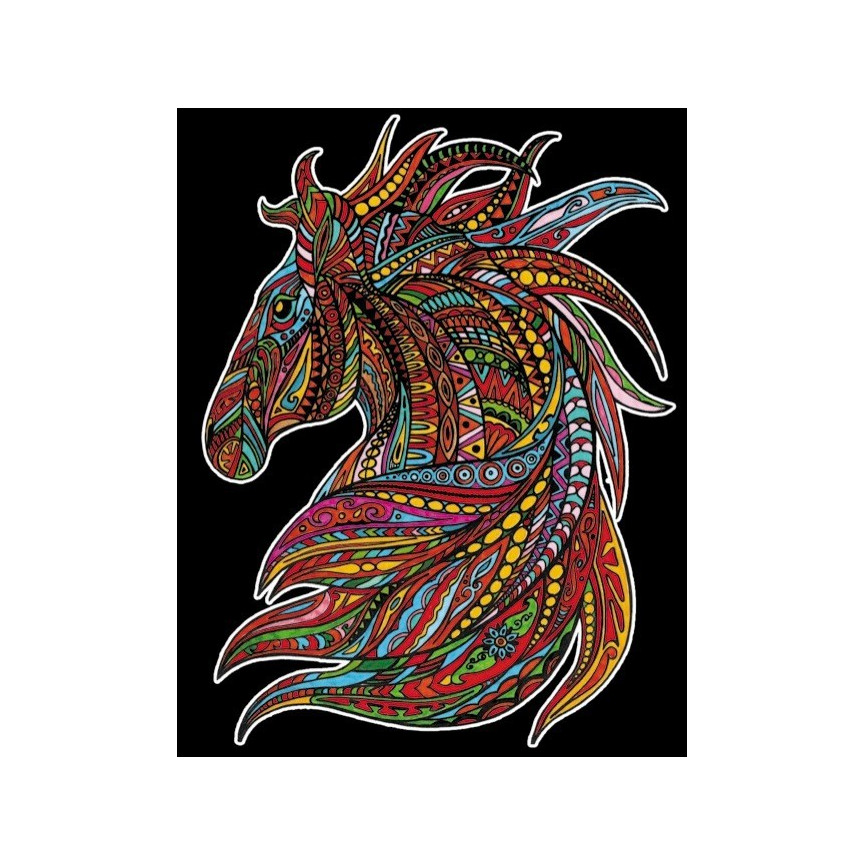 Malowanka COLORVELVET 47x35 Wicher Koń