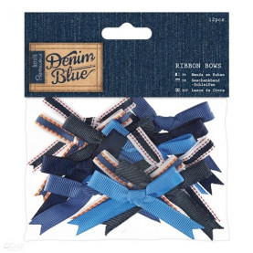 KOKARDY - PAPERMANIA - DENIM BLUE, 12 SZT.