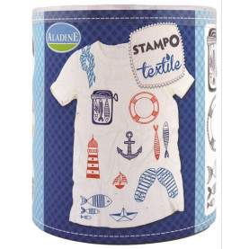 STEMPLE OZDOBNE - Marine / malowanie na tkaninie