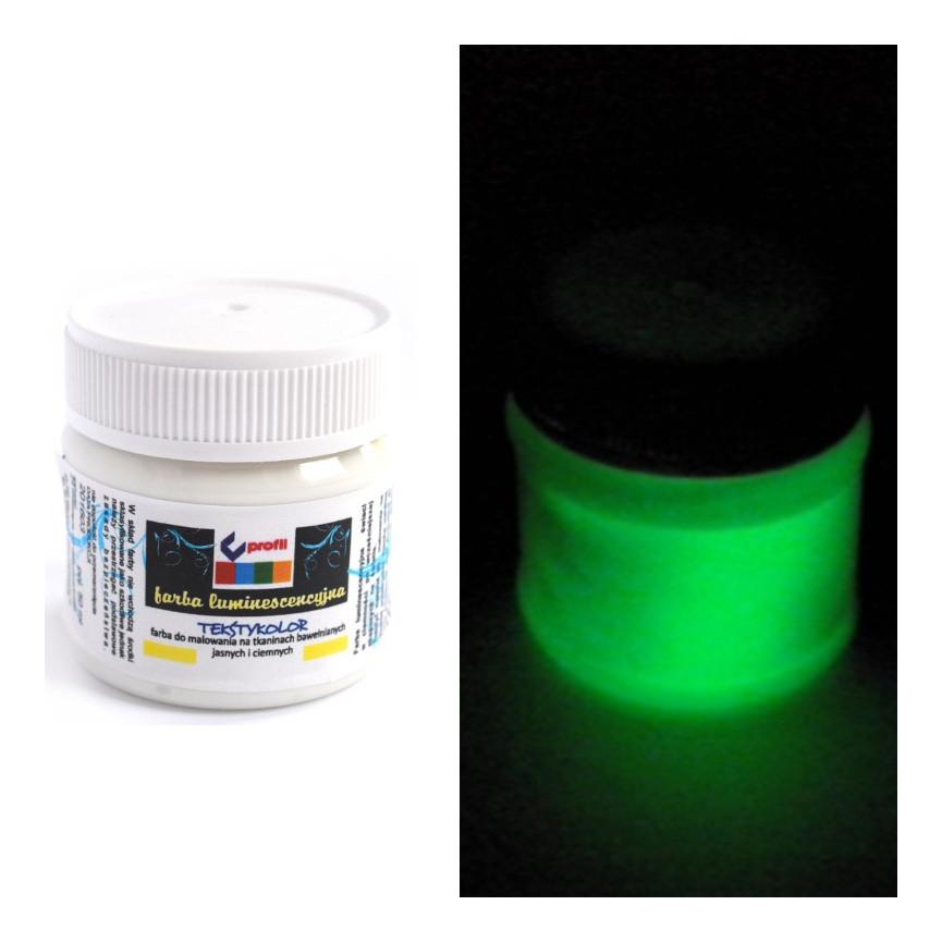 Farba do ubrań luminescencyjna -25ml