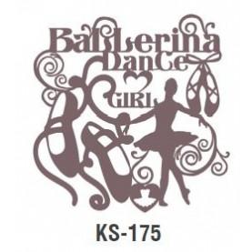 BALERINA DANCE GIRL szablon malarski cieni 25cm 'Trendy Shadow'