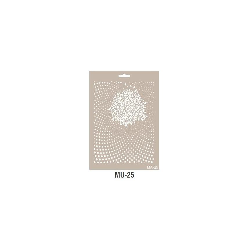 GŁĘBIA mix media szablon A4