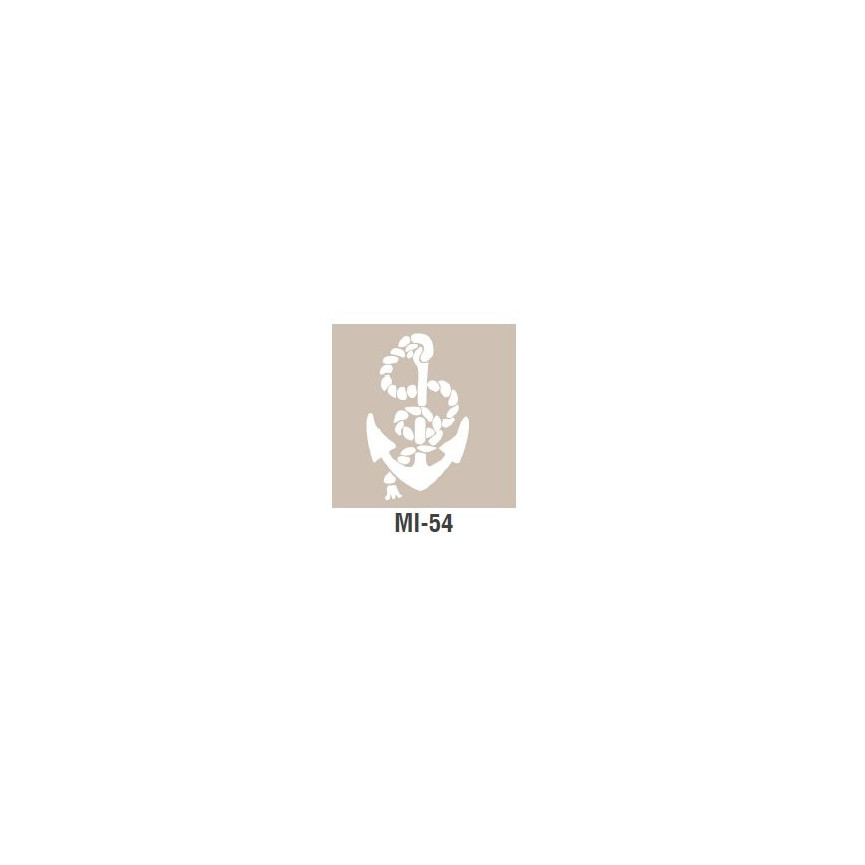 MORSKI szablon mały - 7 x 10cm