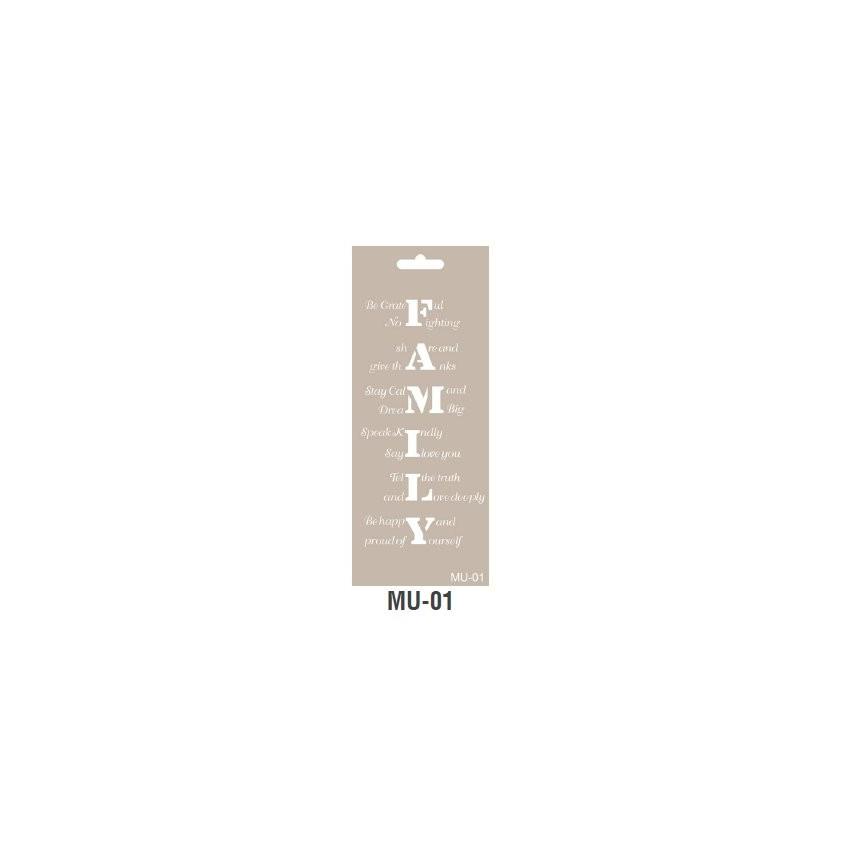 FAMILY szablon długi 10x25cm