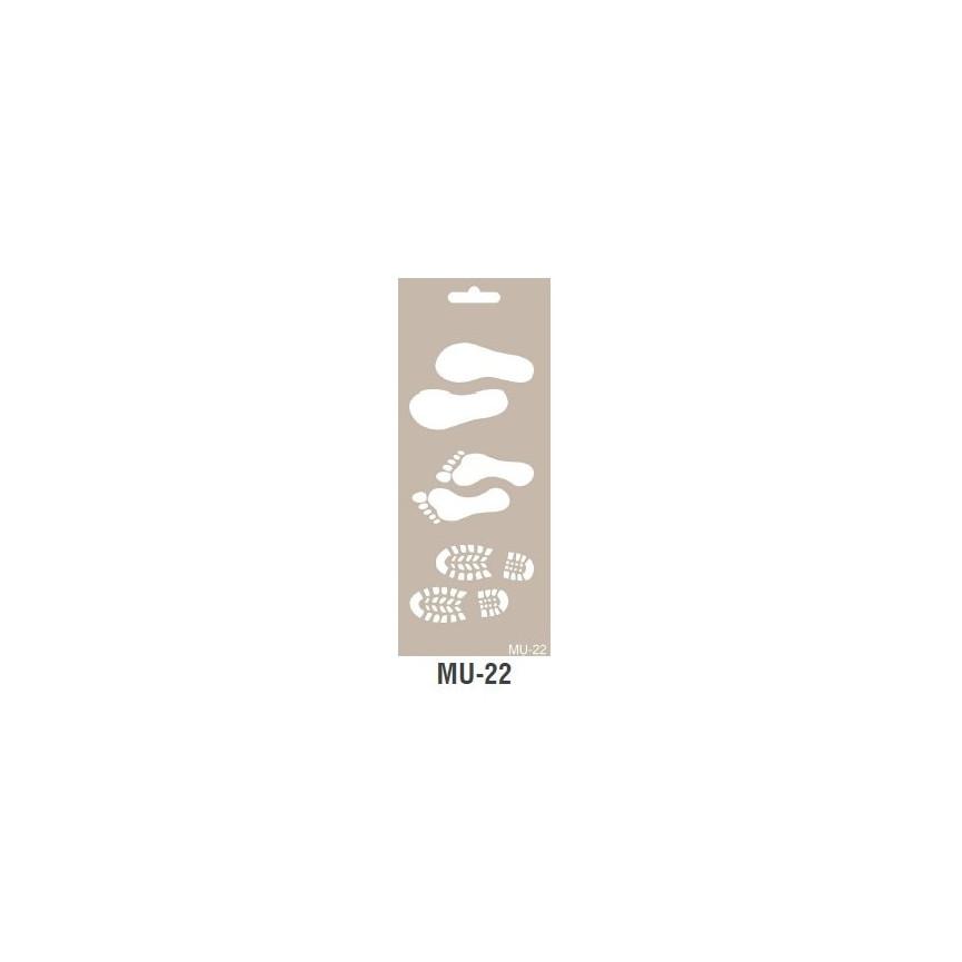ŚLADY RÓŻNE szablon długi 10x25cm