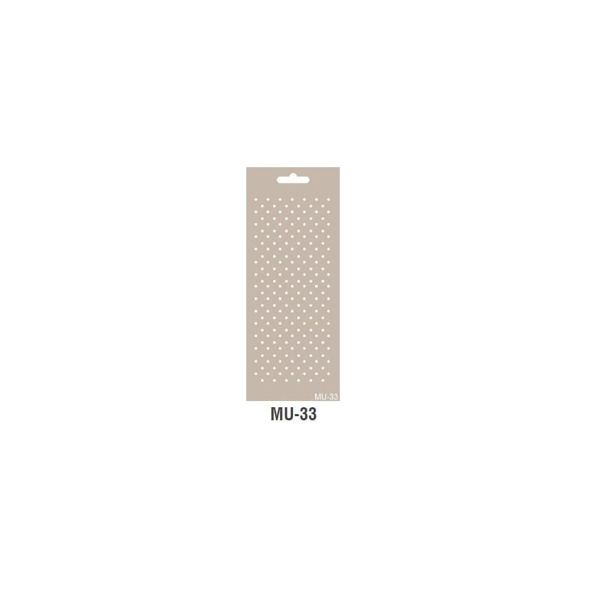 KROPECZKI szablon długi 10x25cm