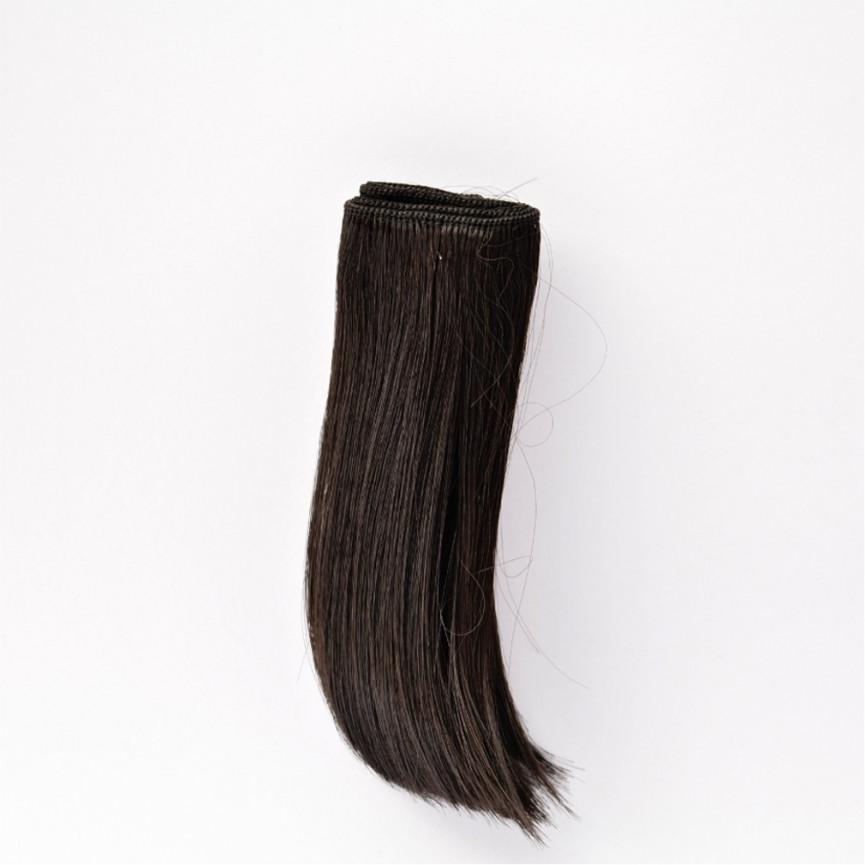 CZARNE Podwinięte 15cm Włosy do Lalek