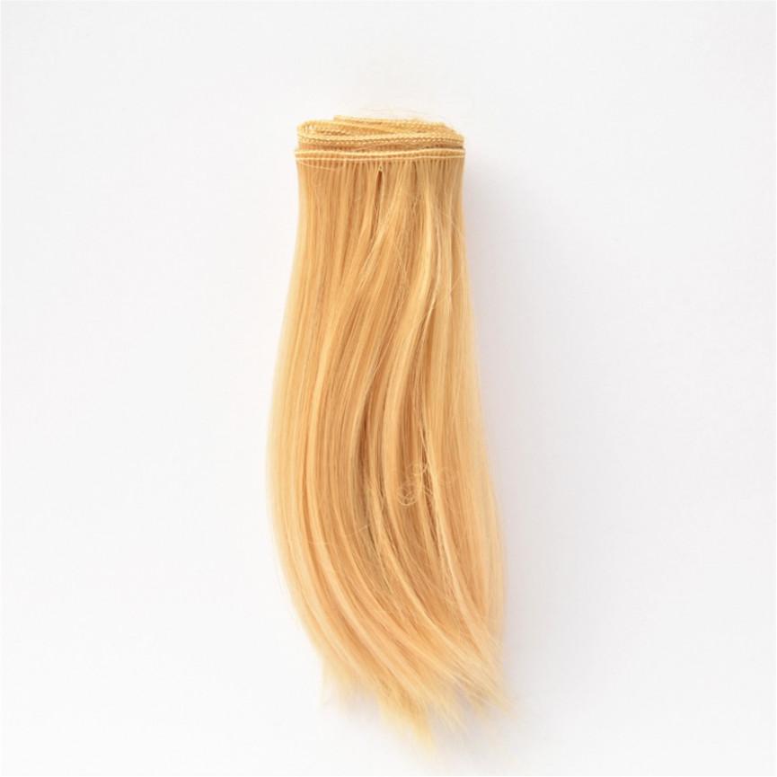 CIEMNY BLOND Podwinięte 15cm Włosy do Lalek