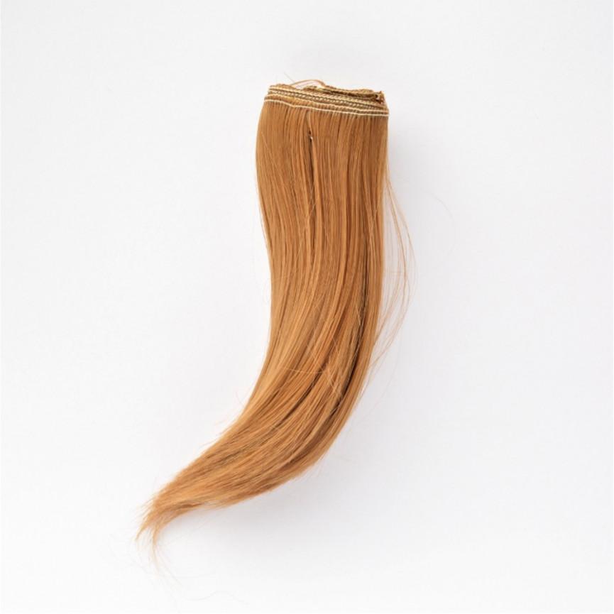 BRĄZOWE Podwinięte 15cm Włosy do Lalek