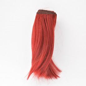 BORDOWE Podwinięte 15cm Włosy do Lalek