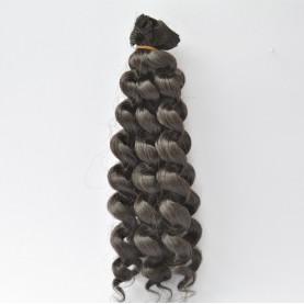 CZARNE Skręcane 20cm Włosy do Lalek