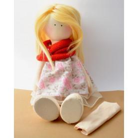 Materiał na lalkę - tkanina cielista 02