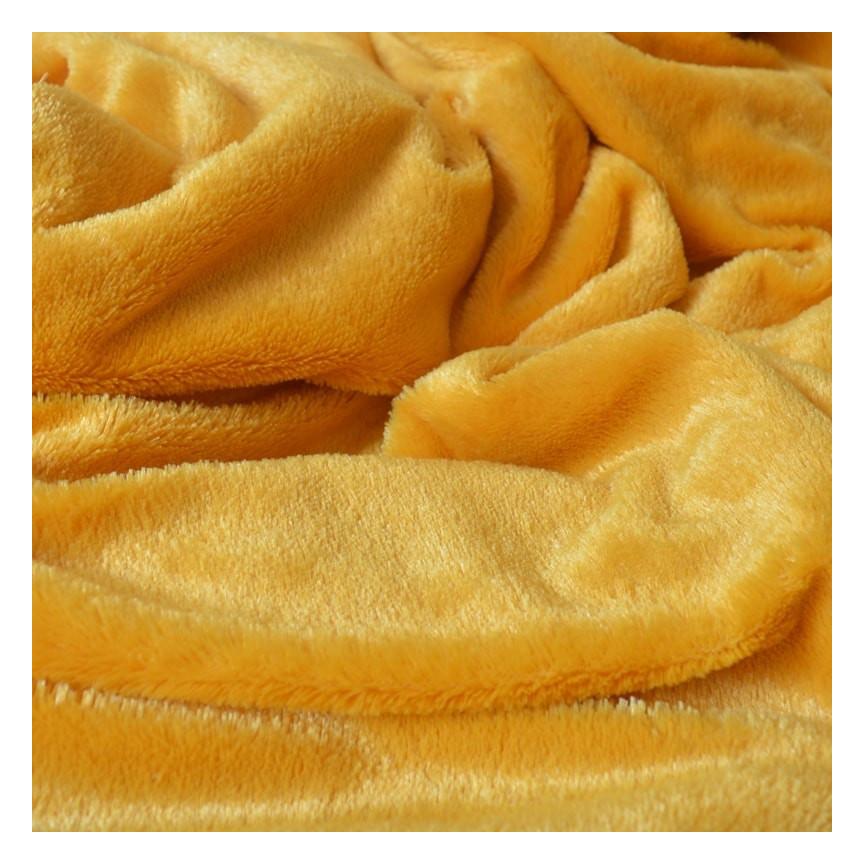 pomarańczowy plusz tkanina 7mm