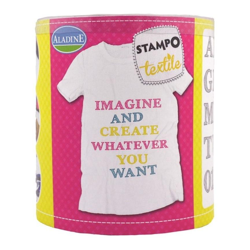 STEMPLE DO TKANIN - Alfabet szkic / malowanie na tkaninie