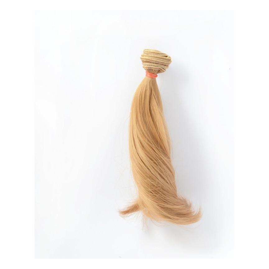 BRĄZOWE Super podwinięte 15cm Włosy do Lalek