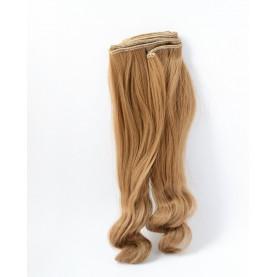 BRĄZ Ciepły (13) - Bardzo długie falowane 25cm - Włosy do Lalek
