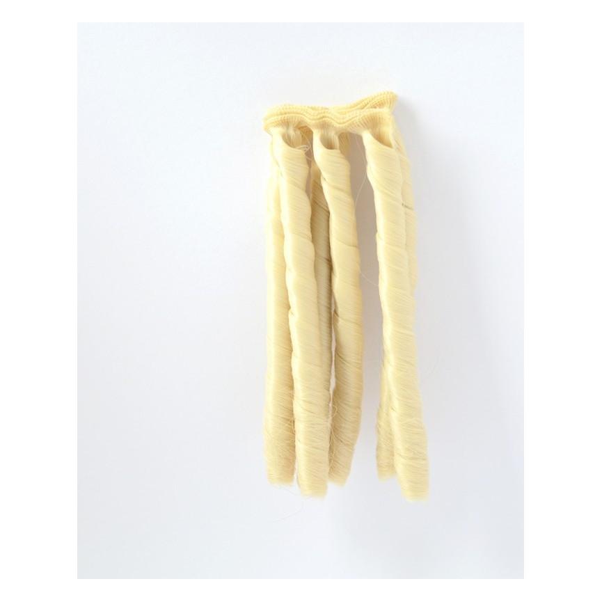 LODOWY BLOND Spiralne długie 15cm Włosy do Lalek