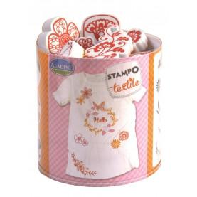 STEMPLE DO TKANIN - Kwiaty kompozycja / malowanie na tkaninie