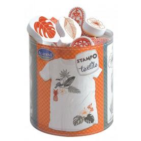 STEMPLE DO TKANIN - Tropikalne / malowanie na tkaninie
